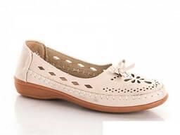 Туфли женские летние (бежевые)