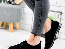 Туфли женские Moran черные 1871 замша