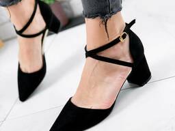 Туфли женские Paola черный + серебро 1861