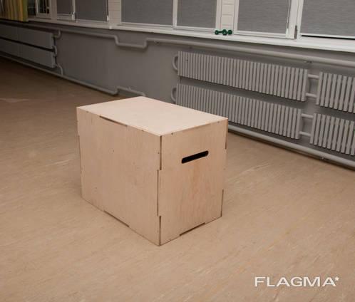 Тумба для кроссфита, плиометрический бокс из фанеры, Харьков
