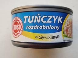 Тунец дробленый (салатный) в растительном масле / тунец дробленый (салатный) в воде.