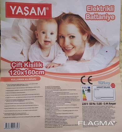 Турецкая электропростынь, электро простынь 120х160 yasam.