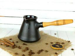 Турка Бразильская керамическая с деревянной ручкой 300 мл + рассекатель
