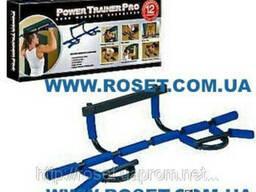 Турник - тренажер для дома Power Trainer Pro 12 в 1 , черный