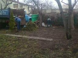 Уборка - расчистка дачного участка, спил деревьев.