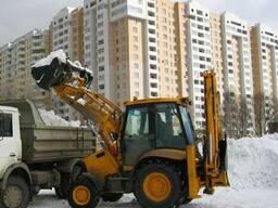 Уборка снега экскаватором - photo 2