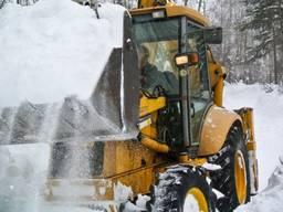 Уборка снега экскаватором, чистка снега, вывоз снега Киев