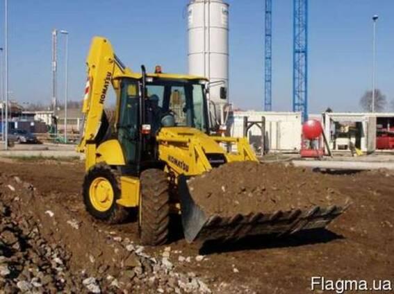 Аренда строительной техники. Разработка, вывоз грунта