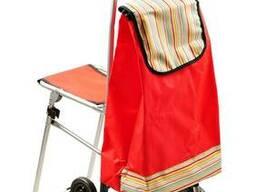 Удобная сумка на 6 колесиках со складным стулом - фото 2