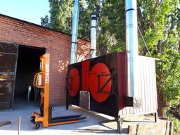 Углевыжигательная печь Фермер К с водонагревательным котлом