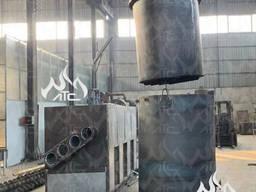 Углевыжигательная печь с блоком очистки и фильтрации газов УВП-1