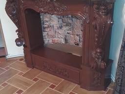 Угловой портал. Камин из гипса, декоративный портал (М21)