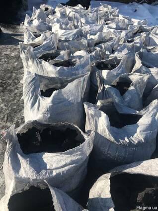 Уголь древесный charcoal средней фракции дуб, ясень производ