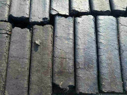 Обугленный брикет 4х гранный
