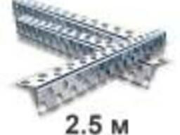 Уголок алюминиевый перфорированный 2,5м