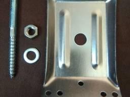 Уголок бобышка комплект для крепления стола цинк 70х1,5 мм