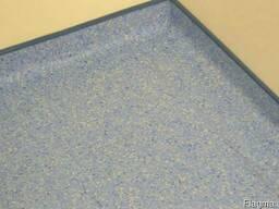 Укладка медицинского линолеума в нахлест на стену