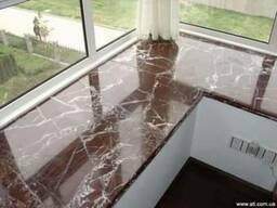 Укладка мрамора Мраморные подоконники