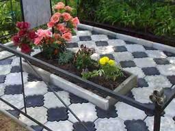 Укладка тротуарной плитки, гранит, установка памятников. Кладбище.