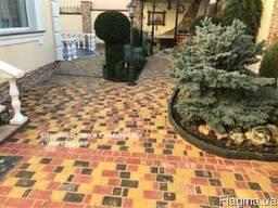 Укладка тротуарной плитки, камня, мощение дорожек