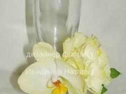 Украшение бокалов цветами и декором Киев