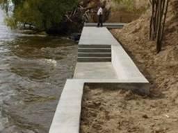 Укрепление берегов бетоном в Херсоне и области. Бетонные работы в Херсоне