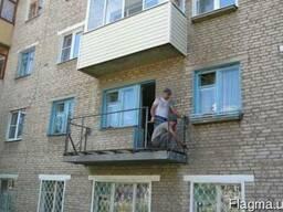 Укрепление плиты балконов