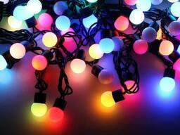 """Уличная Cветодиодная гирлянда Нить Шарики """"String"""" 10 метров Мульти Цветной, 100 LED. .."""