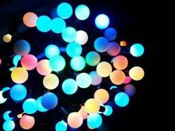 Уличная Гирлянда шарики, 23мм RGB