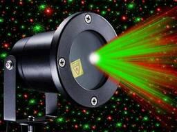 Уличный лазерный проектор Звездный дождь с пультом (лазерная