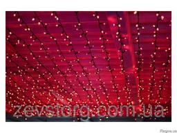 Уличный светодиодный занавес, 185 св, Ш0. 6*В3 м, красный