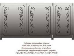 Уличные распашные ворота из листового металла 1.5 мм - 2 мм