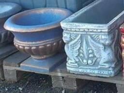 Уличные вазы бетонные для цветов садово парковые большие.