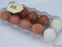 Упаковка для куриных и перепелиных яиц
