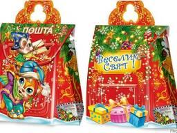 Упаковка для новогодних подарков из картона Новогодняя почта