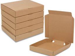Упаковка для пиццы 30 бурая квадратная (усиленная)