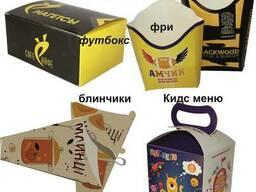 Упаковка Картошка Фри. Упаковка футбокс, для нагетсов, блины