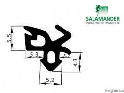 Уплотнитель Salamander для стекла (чёрный).