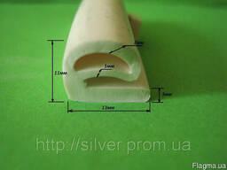 Уплотнитель силиконовый е-образный жаростойкий.