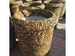 Урна для мусора бетонная, уличная (парковая)