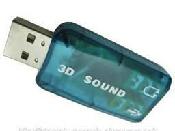 USB звуковая карта 3D Sound card 5. 1 внешняя