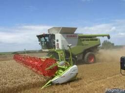 Услуги аренда комбайна уборка урожая сои кукурузы подсолнечн