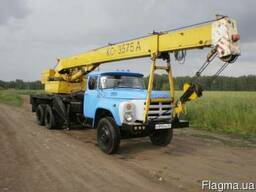 Услуги автокрана КС3575а (г.п. 10 тонн) на базе ЗИЛ-33 ГЯ.