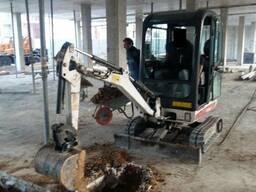 Услуги и аренда мини-экскаватора Bobcat 319