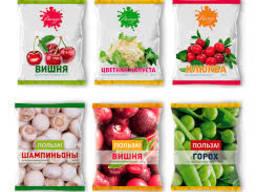 Услуги по фасовке и упаковке замороженных ягод, фруктов и ов