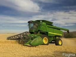 Услуги по уборке зерновых, кукурузы и подсолнечника JOHN DEE