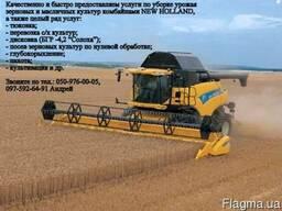 Услуги по уборке зерновых, подсолнечника и рапса