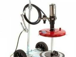 Установка для раздачи консистентных смазок подт тару 60 кг.