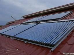 Установка гелиосистем, солнечный коллектор, тепловой насос