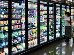 Установка холодильного оборудования для магазина и супермарк